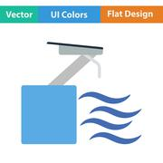 Flat design icon of Diving stand - stock illustration