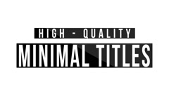 Unique Minimal Titles - stock after effects