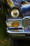 Headlight of retro car Stock Photos