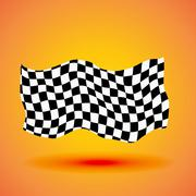 Racing background with checkered flag vector illustration Piirros