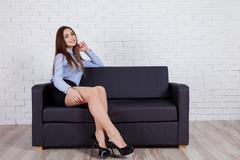 Girl model posing in the Studio Stock Photos