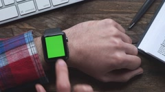 Iwatch smartwatch Stock Footage