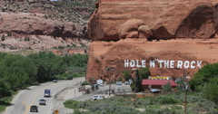 Moab Utah Hole in the Rock tourist attraction traffic DCI 4K Stock Footage
