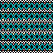 Native ethnic seamless pattern Stock Illustration