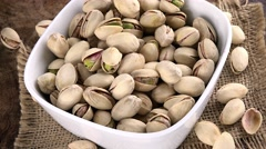 Heap of Pistachios (seamless loopable; 4K) Stock Footage