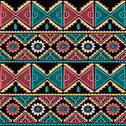 native ethnic seamless pattern - stock illustration