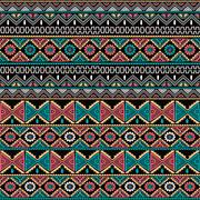 native ethnic seamless pattern - stock illustration