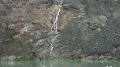Alaska Glacier Waterfall Stock Footage