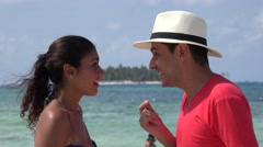 Married Couple Dancing Tropical Vacation Stock Footage