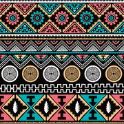 color native ethnic seamless pattern - stock illustration
