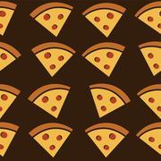 pizza slice tasty art theme - stock illustration