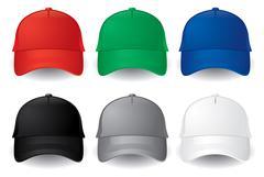 Vector baseball caps Stock Illustration