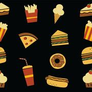 hamburger art pattern - stock illustration
