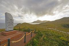 Cape Horn Monument and Dedication Stone - stock photo