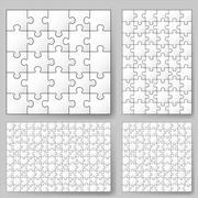 Various sizes puzzle. Illustration for design Stock Illustration