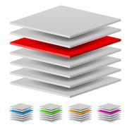 Multi layers. Illustration of the designer on a white background - stock illustration