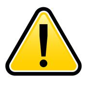 Danger warning sign.  render exclamation mark.  Illustration on white backgro Stock Illustration