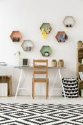 Getting creative with the color and furnishing - stock photo
