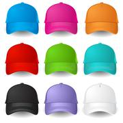 Set of Baseball caps. Illustration on white background Stock Illustration