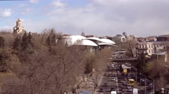 Top view of cityscape in Tbilisi, Georgia Stock Footage
