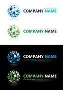 Company name. Design elements. Stock Illustration