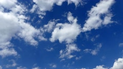 Blue sky and white clouds. Timelapse - stock footage