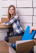 Moving out is exciting - stock photo