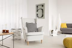 Armchair ideal to relax - stock photo