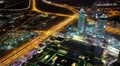 Dubai downtown at night, United Arab Emirates Footage