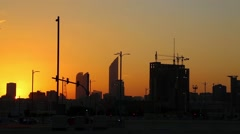 Sunset in Abu Dhabi - capital and second most populous city in UAE Stock Footage