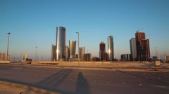 City of Lights complex, Al Reem island, Abu Dhabi, United Arab Emirates Stock Footage