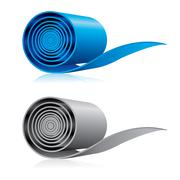 Roll of some material - stock illustration