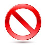 Empty Ban Sign. Illustration on white background Stock Illustration