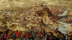 Battle and siege of Namur in 1695 Stock Footage