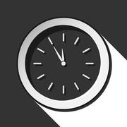 Icon - last minute clock with shadow Stock Illustration