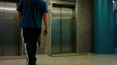 Walking into Elevator POV Stock Footage