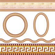 Greek border patterns Stock Illustration