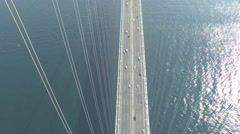 View from the main tower bridge Akashi Kaikyo Stock Footage