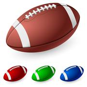 Realistic American football. Illustration on white background. - stock illustration
