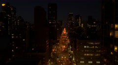dark night in the city. real estate apartment buildings. - stock footage