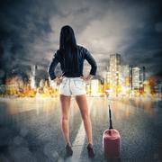 Insurgent woman - stock photo
