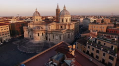 Esquilino, video made with drone Basilica of Saint Mary Major, slowly camera. N. Stock Footage