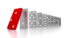 Domino Effect - stock footage
