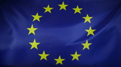 Slowmotion real textile Flag of Europe - stock footage