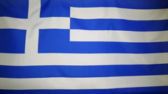 Slowmotion real textile Flag of Greece Stock Footage