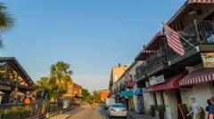 Savannah River Street Drive Through Hyperlapse Stock Footage