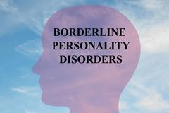 Borderline Personality Disorders mental concept Stock Illustration