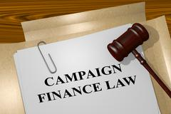 Campaign Finance Law legal concept - stock illustration