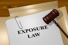Exposure Law legal concept Stock Illustration