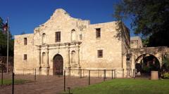 Historic Alamo in San Antonio, Texas Stock Footage